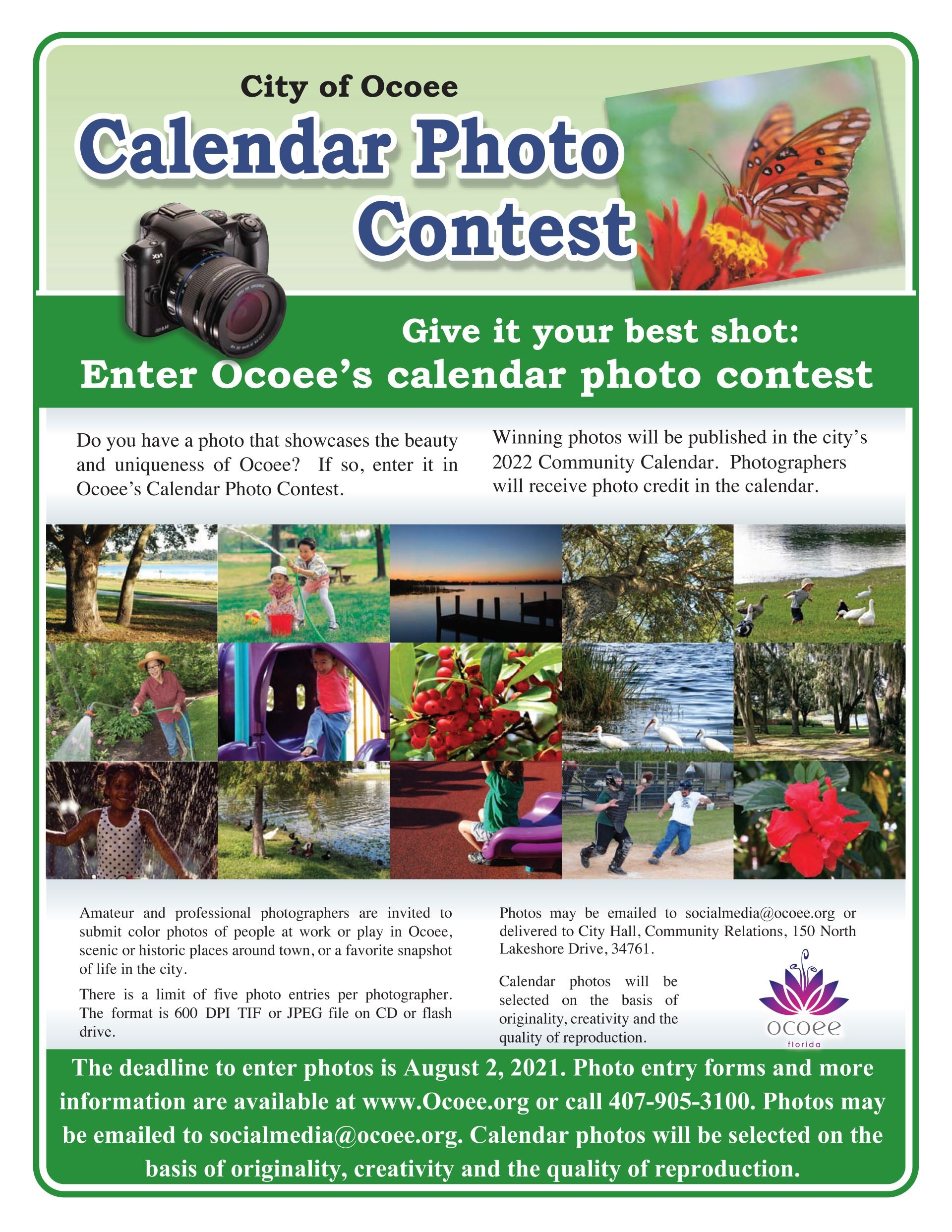 Ocoee Photo Contest flyer 2019