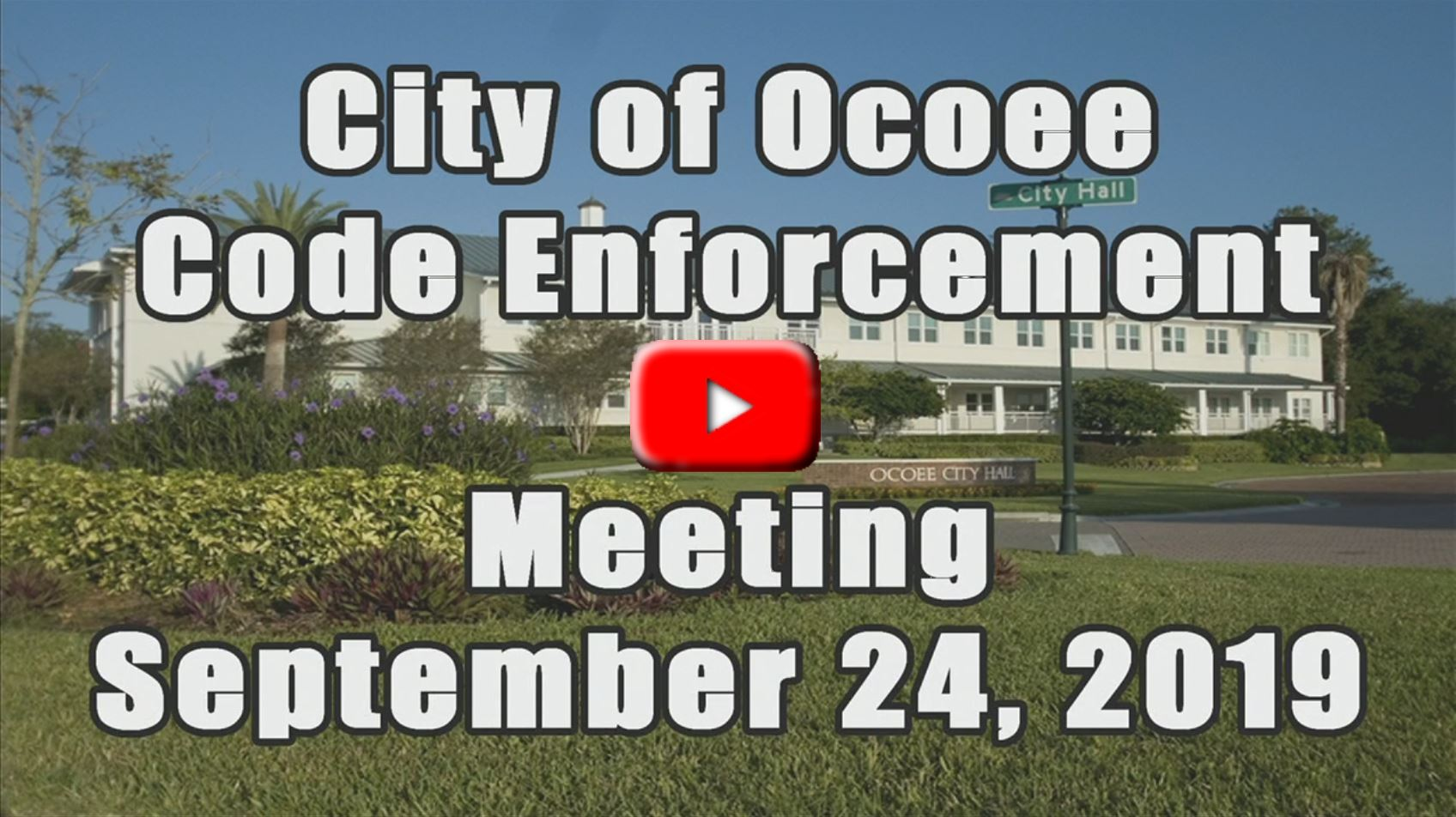 Code Enforcement Meeting Recorded on 9_24_19
