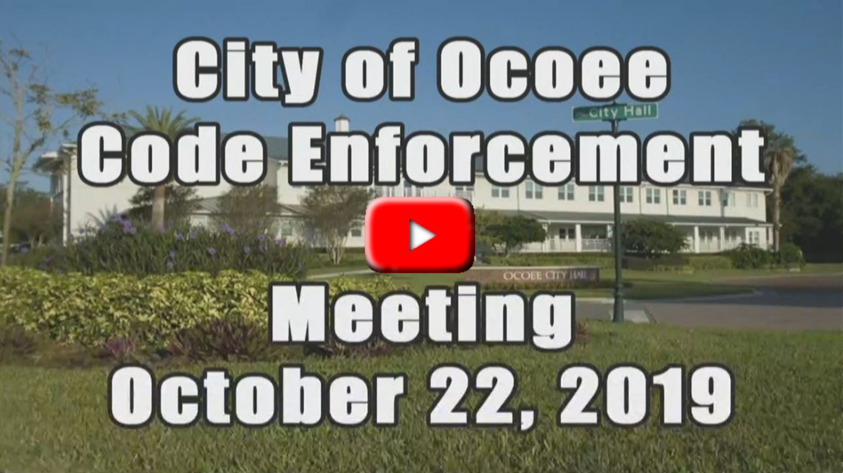 Code Enforcement Board Meeting Recorded on 10_22_19