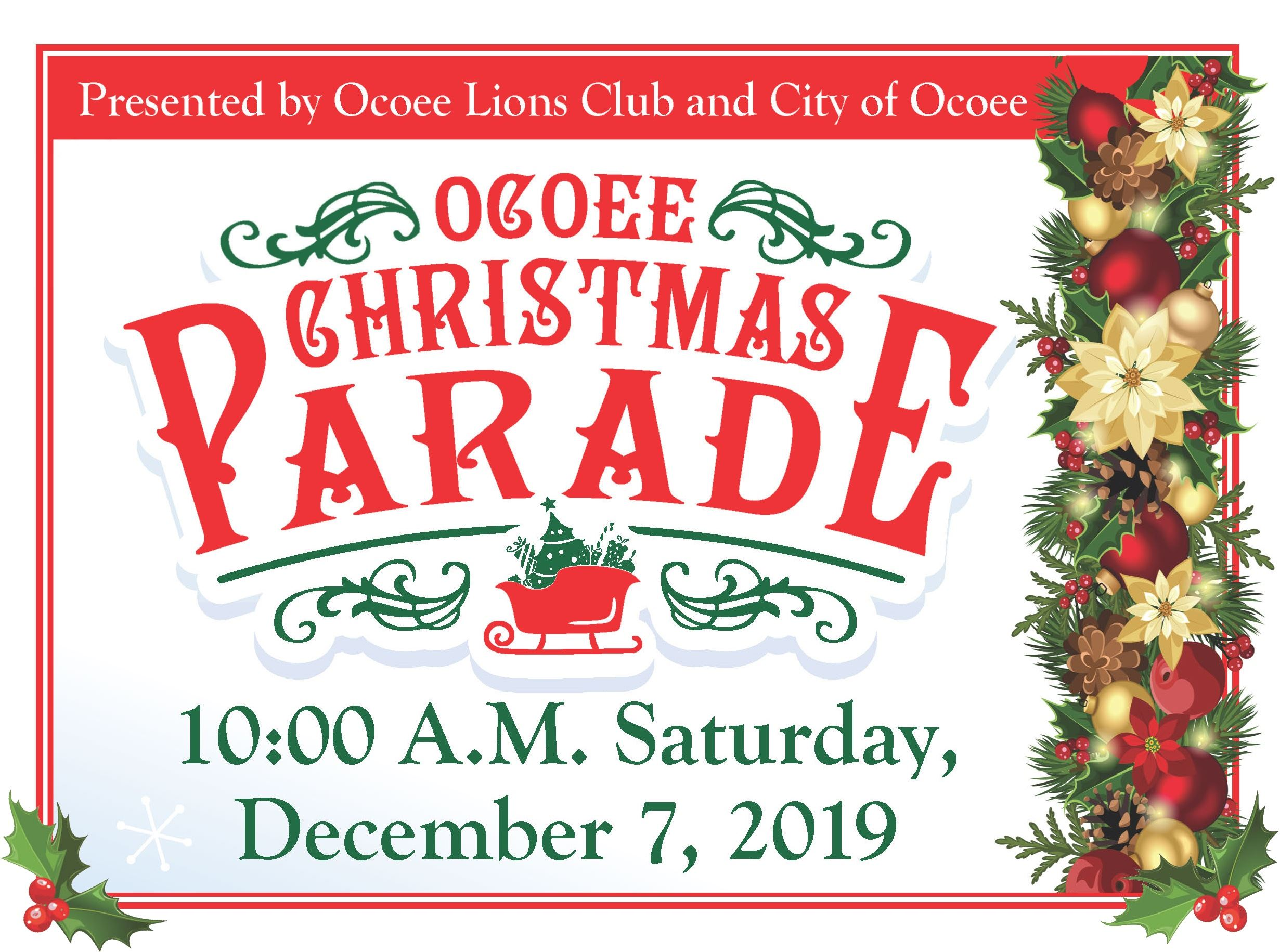 Christmas Parade flyer 2019 Banner
