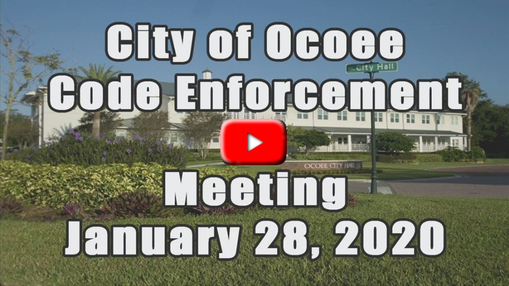 Code Enforcement Meeting Recorded on 01_28_20