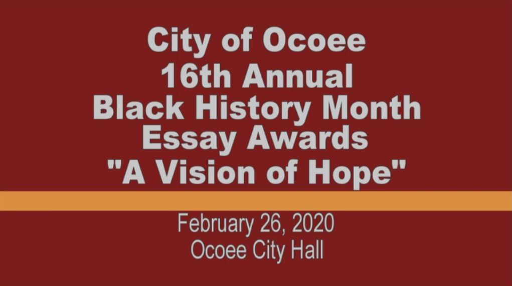 16th Annual Black History Month Essay Awards