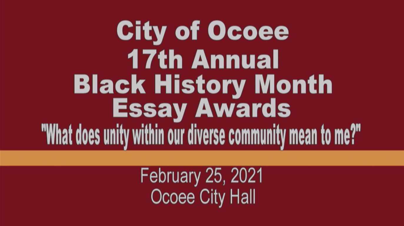 17th Annual Black History Month Essay Awards 2021