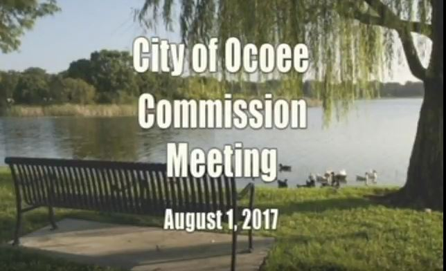 City of Ocoee&#39s Commission Meeting 08.01.2017