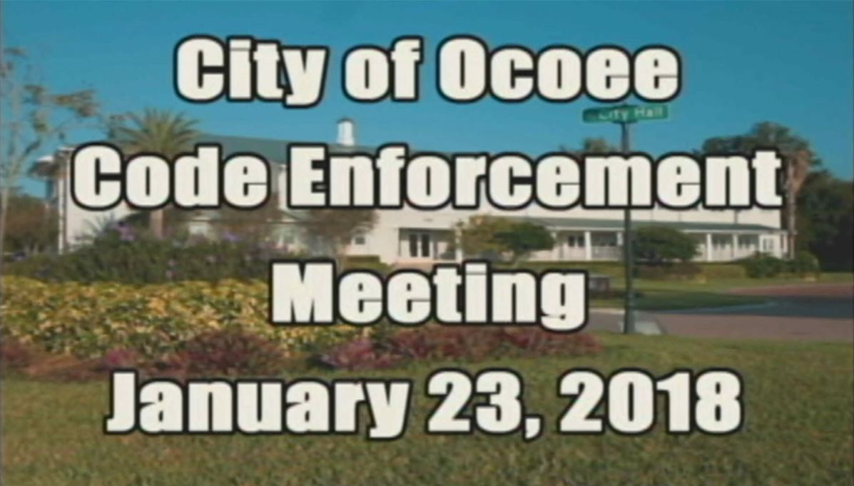 Code Enforcement Board Banner 12318