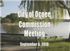 City Commission Meeting Banner for Sept 6 2016